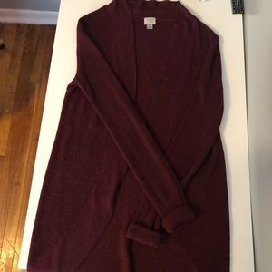 a new day burgundy cardigan